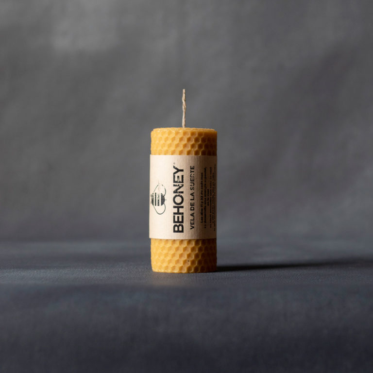 Vela cera abejas 10cm x 4cm