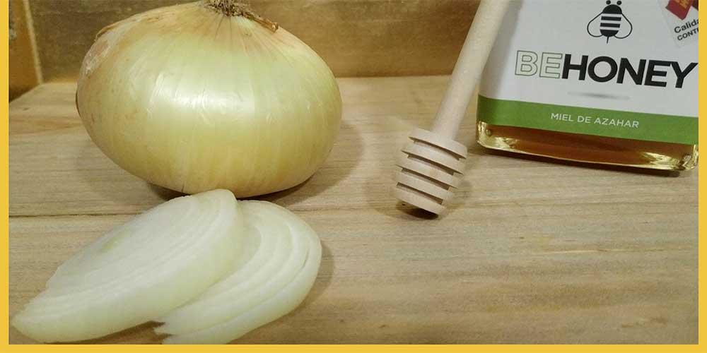 Miel y cebolla para el resfriado