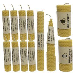 Pack 12 velas de cera de abeja pura - ENVIO GRATUITO