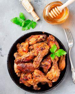 Pollo al horno con miel de azahar
