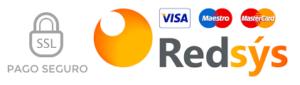 Logo Redsys y tarjetas